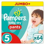 Pampers Baby Dry Pants Size 5 Jumbo Pack 64 per pack