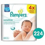 Pampers Baby Wipes Sensitive Refill 4x56