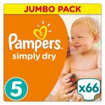 Pampers Simply Dry Size 5 x66