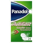 Panadol Actifast Soluble Paracetamol Pain Relief Tablets 24 per pack