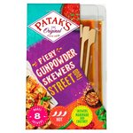 Pataks Street Food Fiery Gunpowder Skewers 150g