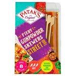 Pataks Street Food Fiery Gunpowder Skewers 150g
