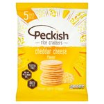 Peckish Cheese Rice Crackers 5 Pack