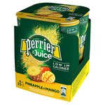 Perrier and Juice Pineapple and Mango 250ml 4 Pack