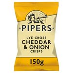 Pipers Cheddar and Onion Crisps 150g