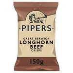 Pipers Longhorn Beef Crisps 150g