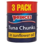 Princes Tuna Chunks In Sunflower Oil 3x160g