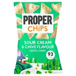 Properchips Sour Cream and Chive Lentil Chips 20g