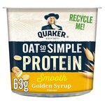 Quaker Oat So Simple Protein Smooth Golden Syrup 63g Pot