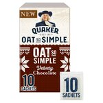 Quaker Oat So Simple Velvety Chocolate Porridge 10 Pack