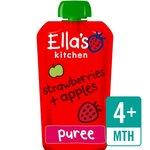 Retail Pack Ellas Kitchen Organic Strawberries and Apples 7 x 120g 4 Months