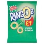 Retail Pack Golden Wonder Ringos Cheese And Onion 15 x 55g