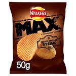 Retail Pack Walkers Max Flame Grilled Steak Crisps 24 x 50g