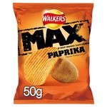 Retail Pack Walkers Max Paprika Crisps 24 x 50g