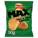 Retail Pack Walkers Max Salt and Vinegar Crisps 24 x 50g