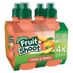 Robinsons Fruit Shoot No Added Sugar Peach and Mango 4 x 200ml