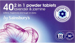 Sainsburys 2in1 Tablets Lavender and Jasmin 20 Washes