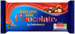 Sainsburys Belgian Wholenut Dark Chocolate 200g
