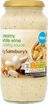 Sainsburys Creamy White Wine Cooking Sauce 485g