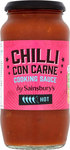 Sainsburys Hot Chilli Con Carne Cooking Sauce 500g