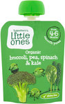 Sainsburys Little Ones Organic Broccoli Pea Spinach and Kale Smooth Puree 4mth+ 70g