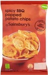 Sainsburys Spicy BBQ Popped Potato Chips 88g
