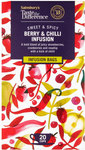 Sainsburys Taste the Difference Berry and Chilli Infusion Tea 20 Teabags