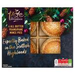 Sainsburys Taste the Difference Frangipane All Butter Mince Pies 4 pack