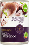 Sainsburys Taste the Difference Mushroom and Tarragon Soup 400g