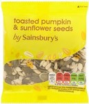 Sainsburys Toasted Pumpkin and Sunflower Seeds 30g
