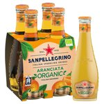 San Pellegrino Organic Aranciata Orange 4x200ml Glass Bottles
