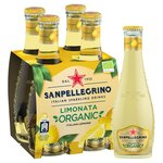 San Pellegrino Organic Limonata Lemon 4x200ml Glass Bottles