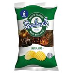 Seabrook Lamb and Mint Crinkle Cut Crisps 6 Pack