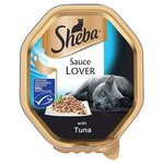 Sheba Sauce Lover Cat Tray with Tuna 85g