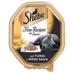 Sheba Tray Fine Recipes in Sauce with Turkey in White Sauce 85g
