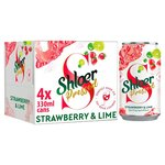 Shloer Pressed Strawberry and Lime 4 x 330ml