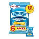 Smiths Salt and Vinegar Chipsticks 6 x 17g
