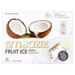 Smooze Fruit Ice Simply Coconut Freeze Pops 5X65ml