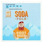 Soda Folk Root Beer 4 x 330ml