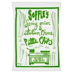 Soffles Pitta Chips Spring Onion and Italian Cheese Share Bag 165g