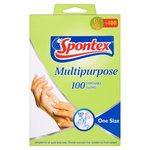 Spontex Multi-Purpose Disposable Gloves Latex and Powder Free 100 gloves - 50 Pairs