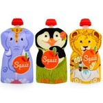 Squiz Carnival 3 Reusable Baby Food Pouches