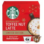 Starbucks by Nescafe Dolce Gusto Toffee Nut Latte Coffee Pods 12 Pods
