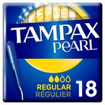 Tampax Pearl Regular Applicator Tampons 18 per pack
