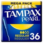 Tampax Pearl Regular Applicator Tampons 36 per pack