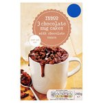 Tesco 3 Chocolate Mug Cakes With Chocolate Sauce 240G