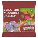 Tesco Chocolate Dotties 45G