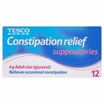 Tesco Constipation Suppositories Relief 12s