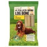 Tesco Filled Mini Log Bone Treats with Chicken 4 Pack