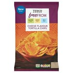 Tesco Free From Cheese Flavour Tortilla Chips 200g